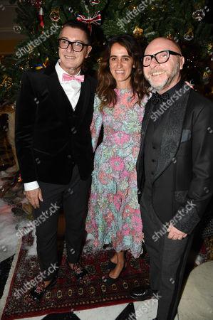 Stefano Gabbana, Coco Brandolini and Domenico Dolce