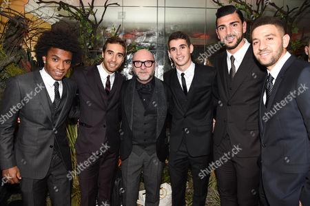 Stock Picture of Willian, Mathieu Flamini, Domenico Dolce, Oscar dos Santos Emboaba Junior and Adel Taarabt