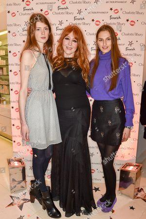 Stock Photo of Jessica Burley, Charlotte Tilbury and Zoe Huxford
