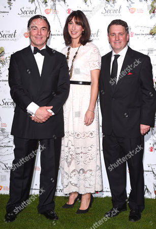 Alan Parker chairman of Save the Children, Samantha Cameron and Justin Forsyth CEO Save the Children