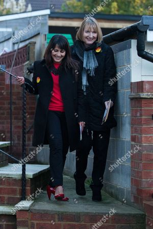 Labour candidate, Naushabah Khan and Deputy Leader of the Labour Party, Harriet Harman, canvassing in Rochester