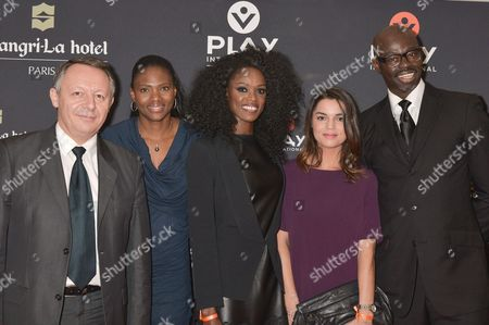 Thierry Braillard, Secretary of State for sports, Muriel Hurtis, World running champion, Emilie Gomis, olympic medalist and Europe Champion of Basketball, Cecile Gres, journalist at sporting magazine l'Equipe, Sylvere Henri Cisse, journalist at Canal Plus Television