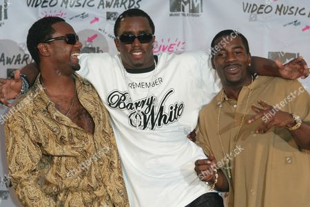 Sean 'P. Diddy' Combs with Carl Thomas (left) and Loon