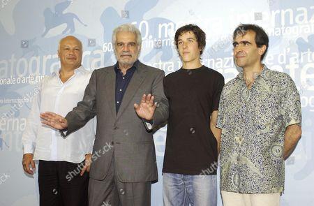OMAR SHARIF, ERIC EMMANUEL SCHMITT, PIERRE BOULANGER AND FRANCOIS DUPEYRON