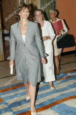 CHERIE BLAIR FOLLOWED BY SHIRLEY CONRAN AND NEW PA TO CHERIE