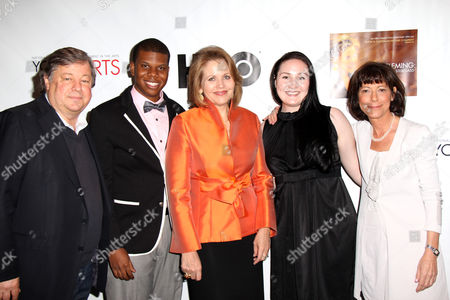 Stock Image of Director Kirk Simon, Aaron Casey, Renee Fleming, Samantha Hankey, Director Karen Goodman