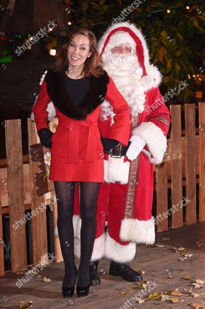 Tara Palmer-Tomkinson and Father Christmas