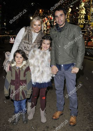 Stock Image of Katy Hill, Trey Farley and their children