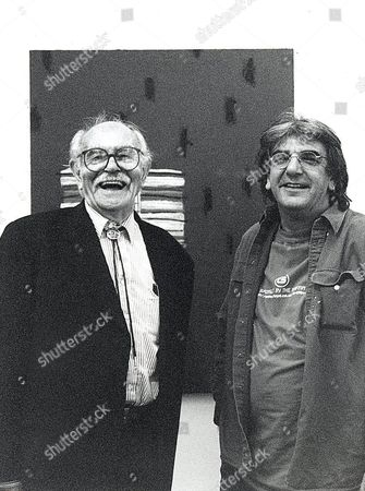 Terry Frost with Peter Griffin in Peter's studio