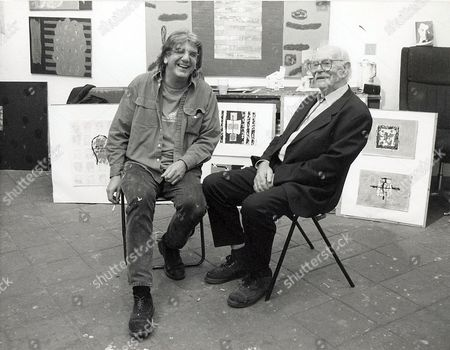 Peter Griffin and Terry Frost in Peter's studio