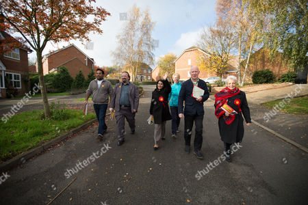 Labour Party candidate Naushabah Khan out canvassing for votes on election day