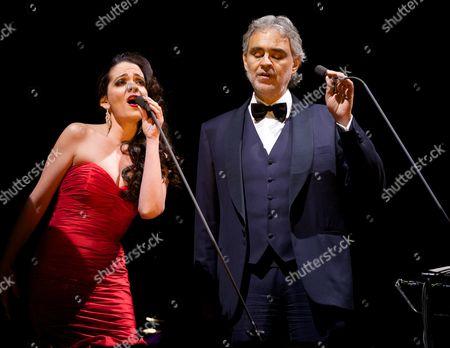 Andrea Bocelli and Maria Aleida Rodriguez