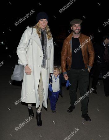 Jodie Kidd, son Indio Vianini Kidd and David Blakeley