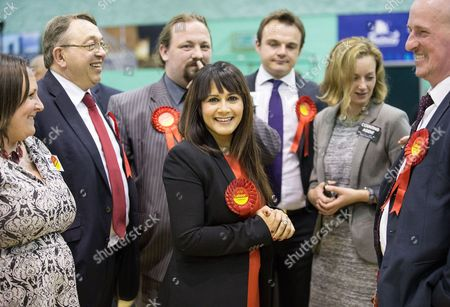 Stock Picture of Naushabah Khan (Labour) with party supporters
