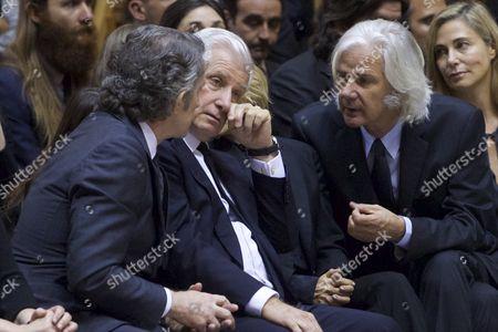 The widower of the Duchess of Alba Cayetana Fitz-James Stuart, Alfonso Diez and Carlos Duke of Huescar