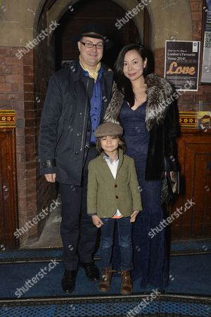 Stock Picture of Lord and Lady Oxmantown with their son William.