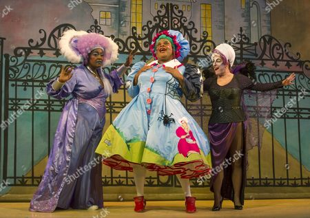 Sharon D Clarke as Charity, Clive Rowe as Mother Goose, Susie McKenna as Vanity