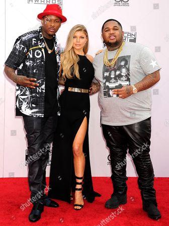 Keenon Jackson, Fergie Duhamel and DJ Mustard