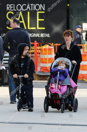 Editorial picture of Peter Dinklage and family out and about in the West Village, New York, America - 23 Nov 2014