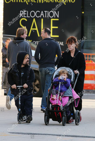 Stock Image of Peter Dinklage with wife Erica Schmidt and son Zelig Dinklage