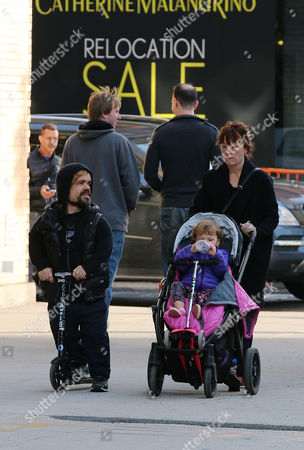Editorial photo of Peter Dinklage and family out and about in the West Village, New York, America - 23 Nov 2014