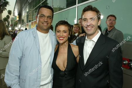 Jack Giarraputo, Alyssa Milano and Tom McNulty
