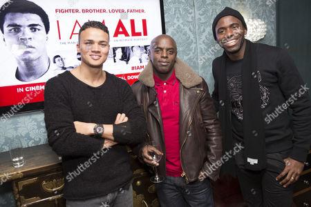 Jermaine Jenas, Trevor Nelson and Fabrice Muamba