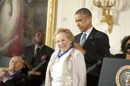 Ethel Shakel Kennedy and Barack Obama