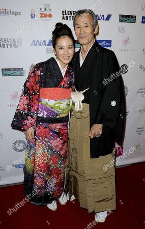 Stock Photo of Chihiro Yamamoto and Seizo Fukumoto