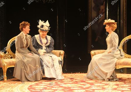 Gemma Redgrave as Mrs Cheveely, Laura Rogers as Lady Chiltern & Patricia Routledge as Lady Markby