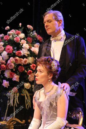 Robert Bathurst as Sir Robert Chiltern & Laura Rogers as Lady Chiltern