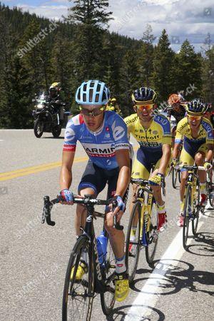 USA Pro Challenge 2014 stage 3: Colorado - Tom Danielson (USA-Garmin) leads Majka (Pol - Saxo)