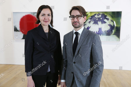 Olga Chernysheva and gallery director Mathew Stephenson.