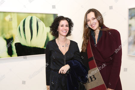 Gallery director Mollie Dent-Brocklehurst and Maria Baibakova.