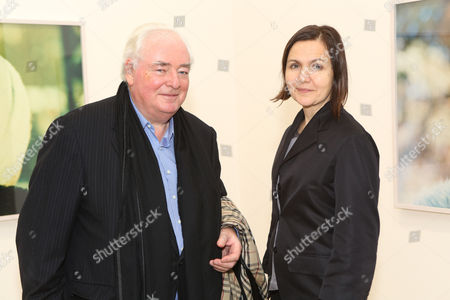 Stock Picture of Nick Ilyin and artist Olga Chernysheva