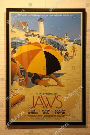 Stock Picture of Laurent Durieux film poster of Jaws