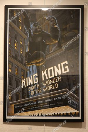 Stock Photo of Laurent Durieux film poster of King Kong