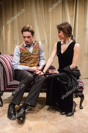 Stock Image of Christopher Leveaux (Julian), Poppy Drayton (Leonora)