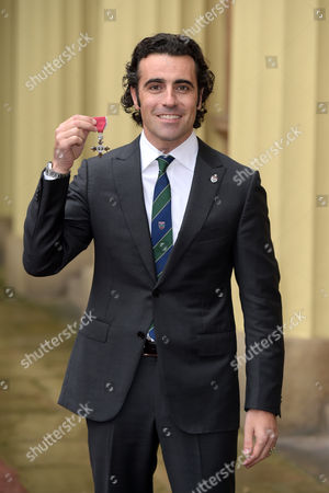 Dario Franchitti receives an MBE for services to Motor Racing