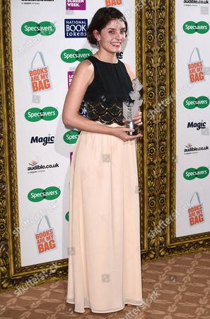 Jessie Burton with New Writer of the Year award