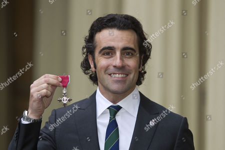 Dario Franchitti after being awarded an MBE for Services to Motor Racing