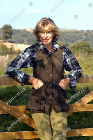 Selina Scott on her farm in North Yorkshire