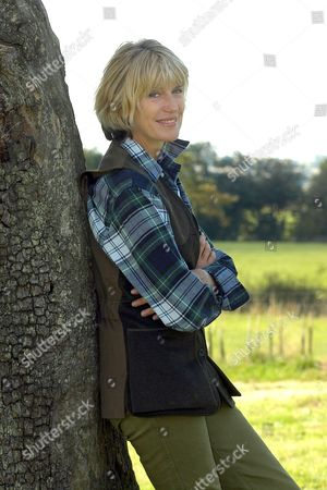 Selina Scott on her farm in North Yorkshiree