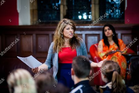 Editorial picture of Naomi Wolf at the Oxford Union, Britain - 27 Nov 2014