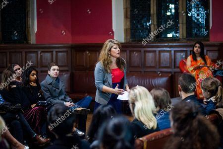 Editorial photo of Naomi Wolf at the Oxford Union, Britain - 27 Nov 2014