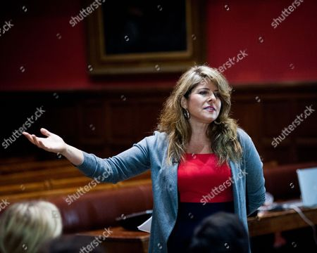 Editorial image of Naomi Wolf at the Oxford Union, Britain - 27 Nov 2014
