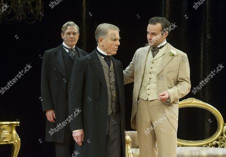 Robert Bathurst as Sir Robert Chiltern, Edward Fox as The Earl of Caversham, Jamie Glover as Lord Goring