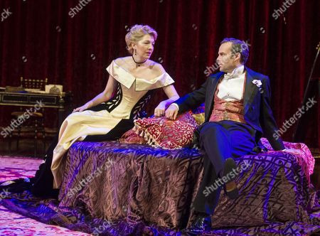 Jemma Redgrave as Mrs Cheveley, Jamie Glover as Lord Goring
