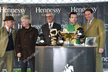 Guests, Maurice-Richard Hennessy, Leighton Aspell (winner) and Jo Thornton