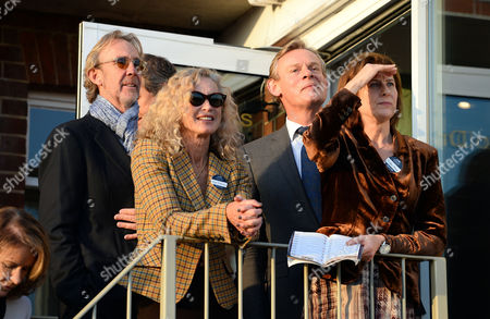 Mike Rutherford with wife Angie Rutherford and Martin Clunes with wife Philippa Braithwaite